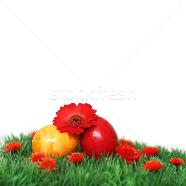 Zwei Eier nice Dekoration Ostern Zeit Stock foto © photochecker