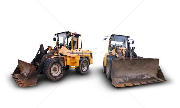 Endüstriyel inşaat araçlar büyük buldozer Stok fotoğraf © photochecker