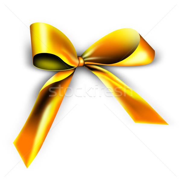 golden ribbon for a gift Stock photo © photochecker