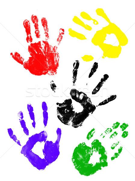 Colorful handprints Stock photo © photochecker