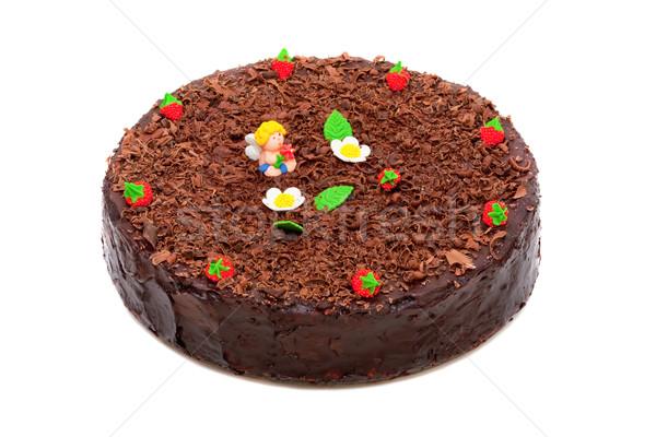 Chocolade ingericht aardbeien engel marsepein Stockfoto © Photocrea