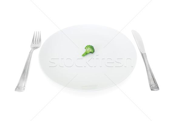 my diet, broccoli on a white plate  Stock photo © Photocrea
