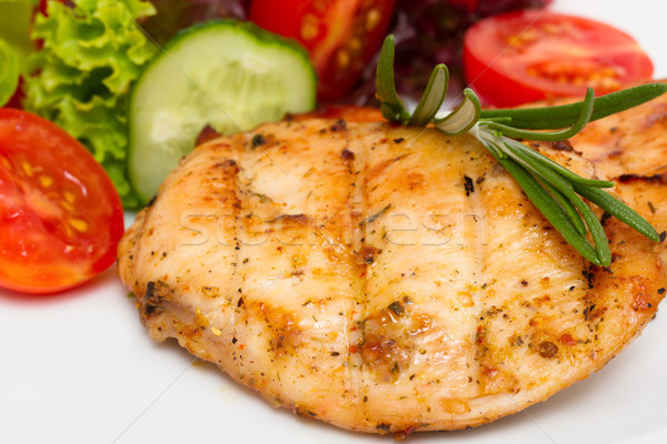 Closeup of grilled chicken fillet with vegetable salad Stock photo © Photocrea