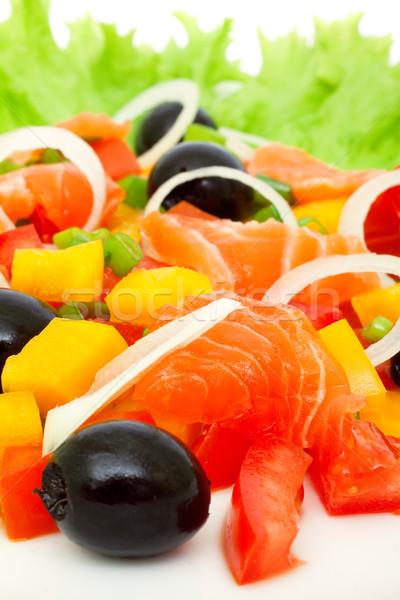 vegetable salad with salmon  Stock photo © Photocrea