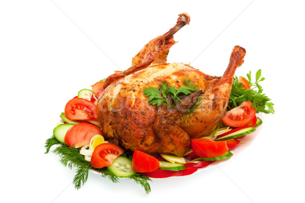 roast chicken with vegetables on a plate  Stock photo © Photocrea