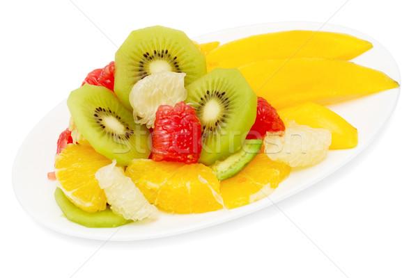 fruit salad isolated on white Stock photo © Photocrea