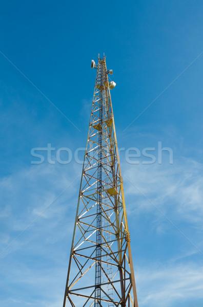 Radio telecommunications tower Stock photo © Photocrea
