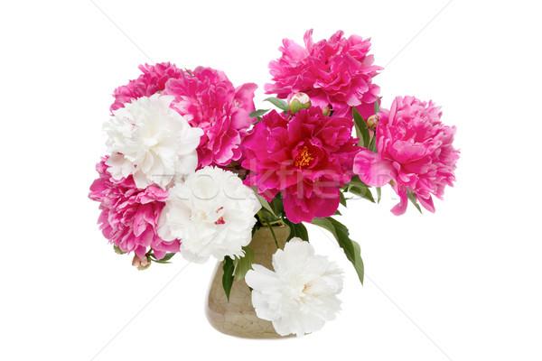 Beautiful bouquet of spring flowers - peonies Stock photo © Photocrea