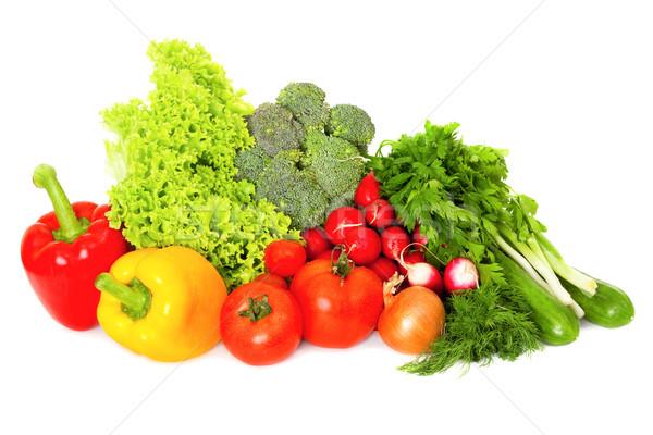 Сток-фото: свежие · овощи · изолированный · белый · воды · красный