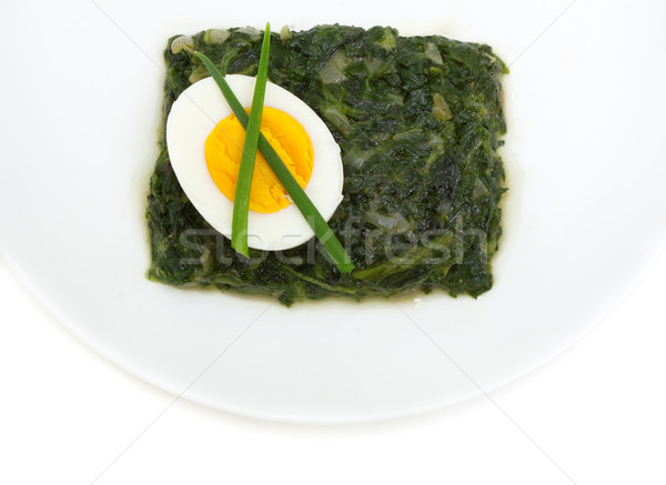 sauteed spinach and egg  Stock photo © Photocrea