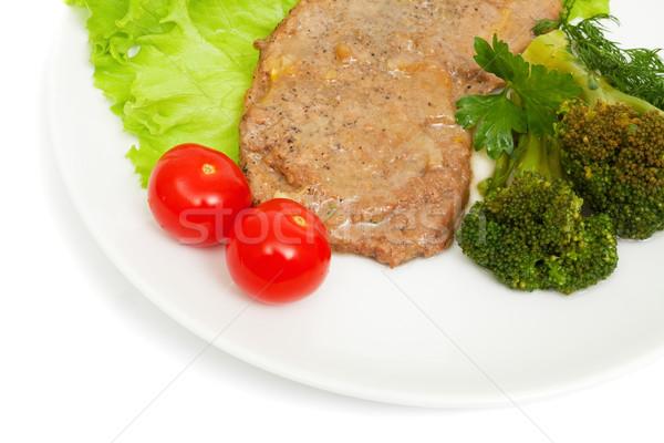 Ternera cebolla salsa brócoli aislado Foto stock © Photocrea
