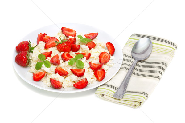 cottage cheese with strawberries Stock photo © Photocrea