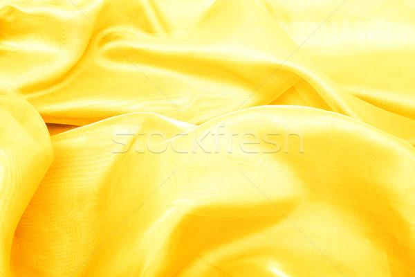 Abstract background yellow gold chiffon organza Stock photo © Photocrea