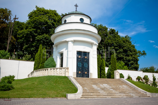 Stock photo: small chapel on the military cemetery