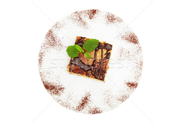 cheesecake drenched in chocolate Stock photo © Photocrea