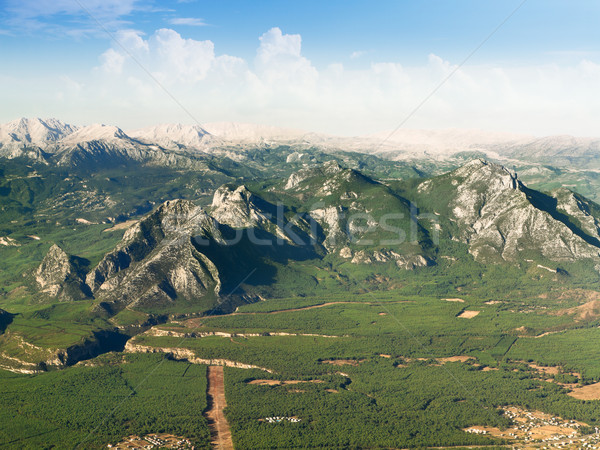 mountain landscape view from plane Stock photo © Photocrea
