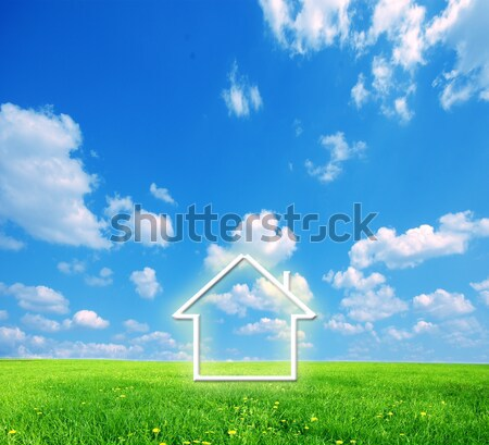 New house imagination in loupe Stock photo © photocreo