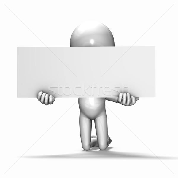 The 3d guy begging on his knees Stock photo © photocreo