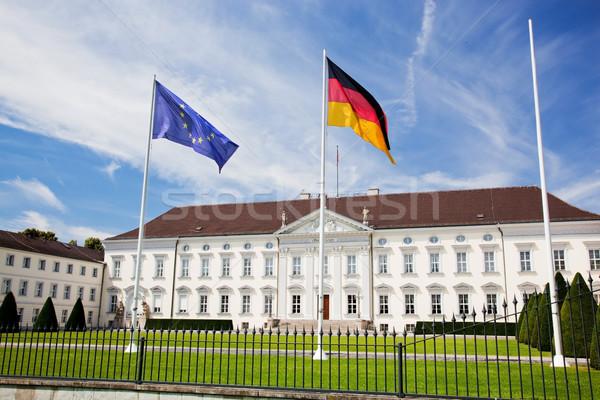 Prezidential palat Berlin Germania grădină verde Imagine de stoc © photocreo