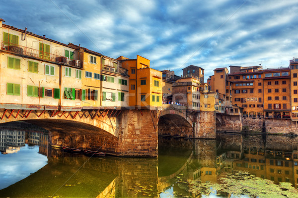 Ponte Vecchio bridge in Florence, Italy. Arno River.  Stock photo © photocreo