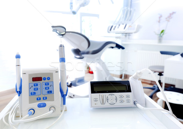 Equipment and dental instruments in dentist's office. Dentistry Stock photo © photocreo