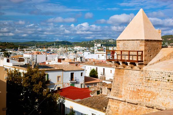 Panorama of Ibiza, Spain Stock photo © photocreo