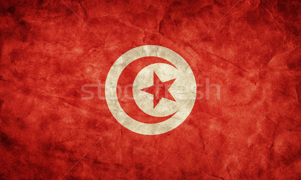 Tunisia grunge flag. Item from my vintage, retro flags collection Stock photo © photocreo