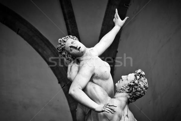 ősi szobor nemi erőszak nők Florence Olaszország Stock fotó © photocreo