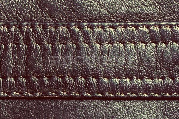 Genuine vintage leather with seam Stock photo © photocreo