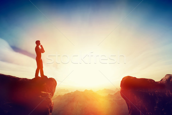Solve the problem, think about solution, challenge concept. Stock photo © photocreo