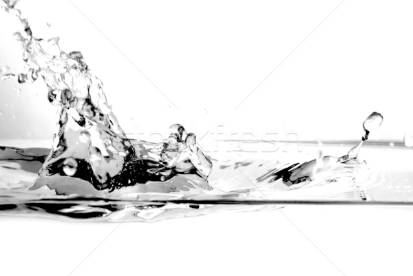 Zoetwater splash witte abstract natuur glas Stockfoto © photocreo
