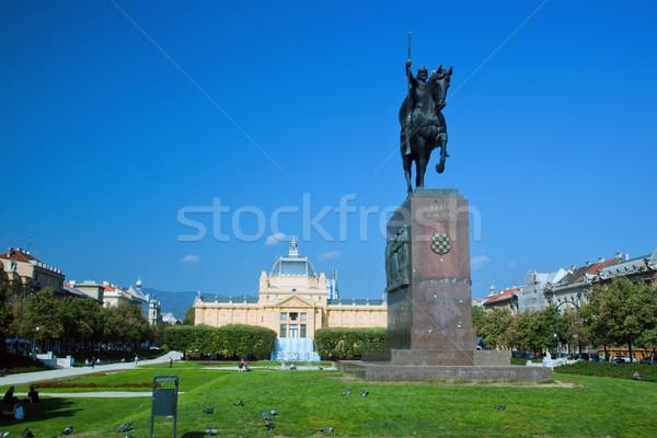 Zagreb, Croatia. Kralj Tomislav statue Stock photo © photocreo