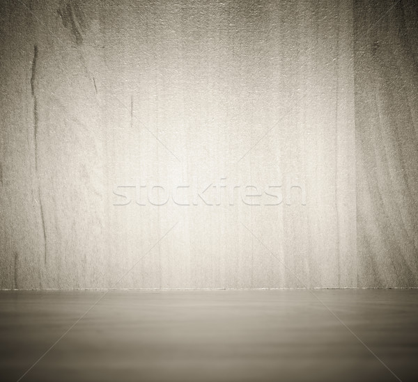 Minimalist wooden wall background with wooden floor Stock photo © photocreo