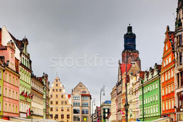 Polonia regione mercato piazza colorato storico Foto d'archivio © photocreo