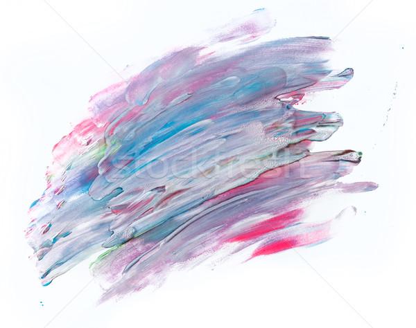 Photo stock: Coloré · couleur · pour · aquarelle · peinture · blanche · toile · super