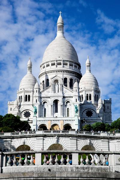 Bazilika Paris Fransa montmartre ışık kilise Stok fotoğraf © photocreo