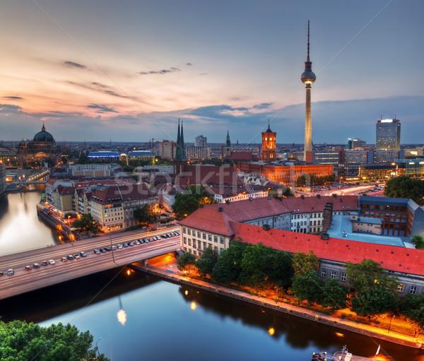 ベルリン ドイツ 日没 屋上 表示 テレビ ストックフォト © photocreo