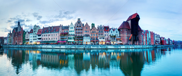 Photo stock: Panorama · gdansk · vieille · ville · rivière · Pologne · ville