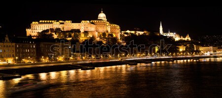 Buda Castle by Danube river. Budapest, Hungary Stock photo © photocreo