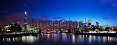 London skyline panorama at night, England the UK. Tower of London, the Shard and more Stock photo © photocreo