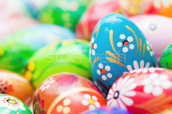 Handmade Easter eggs collection. Spring patterns art, unique. Stock photo © photocreo