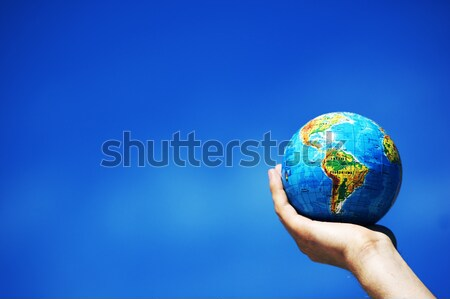 Earth globe in hands. Conceptual image Stock photo © photocreo