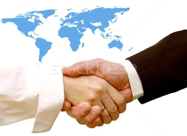 Agreement handshake Stock photo © photocreo