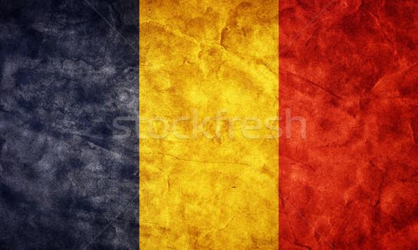 Stockfoto: Roemenië · grunge · vlag · item · mijn · vintage