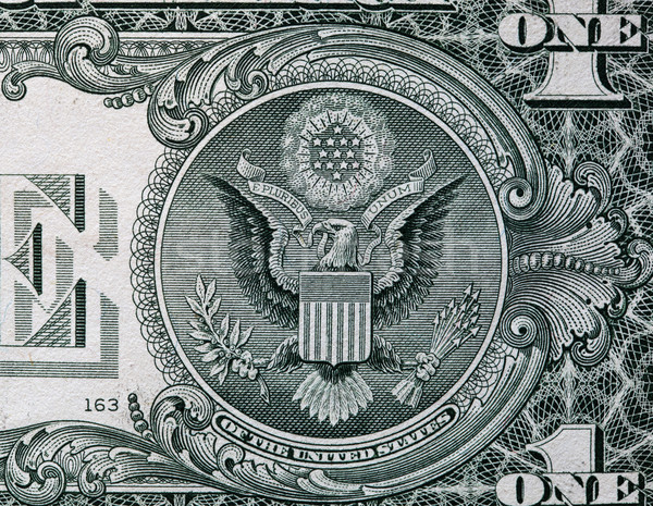 The Seal of The United States on the reverse side of one American dollar bill Stock photo © photocreo