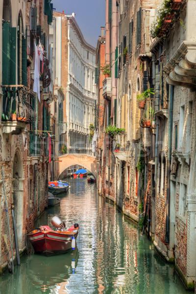 Venice, Italy. A romantic narrow canal and bridge Stock photo © photocreo