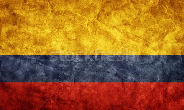 Colombia grunge zászló tétel enyém klasszikus Stock fotó © photocreo