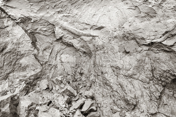 Cliff erosion. Mud, natural clay, cracks in rock background. Stock photo © photocreo