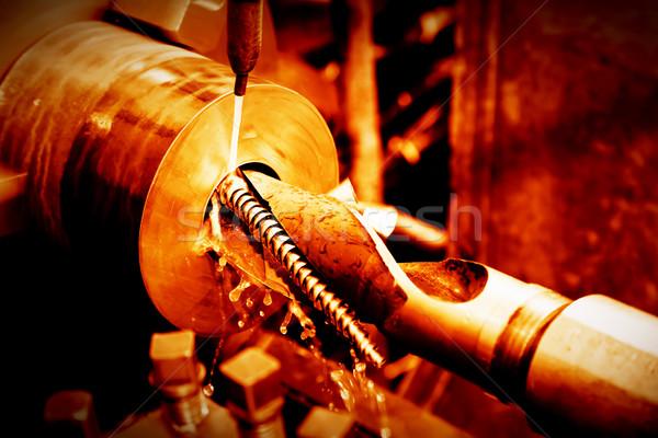 промышленных машина работу промышленности красный Сток-фото © photocreo