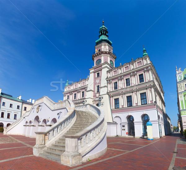 Zamosc, Poland. Historic buildings with the town hall.  Stock photo © photocreo
